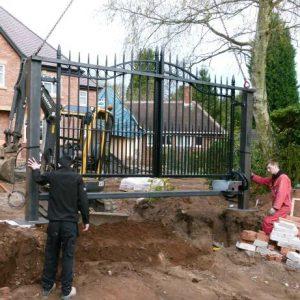 Install electirc gates